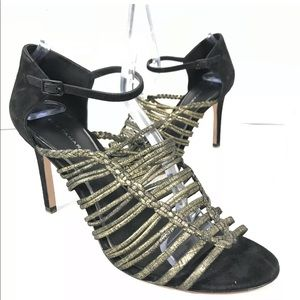 Elie Tahari Women Metal Strappy Heels Sandals